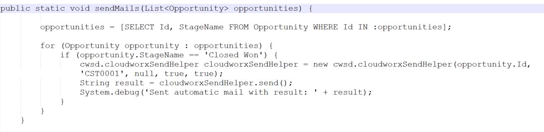 Beispiel Code für E-mailversand. Er kann über Trigger* oder Scheduler abgerufen werden.